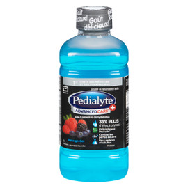 Pedialyte Advanced Care + Solution de Réhydratation Orale Baies Givrées 1 L