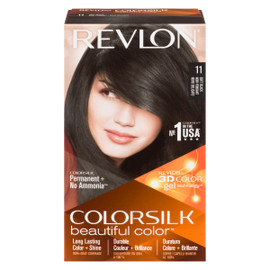 Revlon ColorSilk Beautiful Color 3D Color Gel Technology Permanent + No Ammonia 11 Noir Fondant