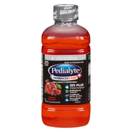 Pedialyte Advanced Care + Solution de Réhydratation Orale Cerise et Grenade 1 L