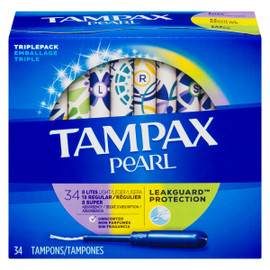 Tampax Pearl Emballage Triple 34 Tampons