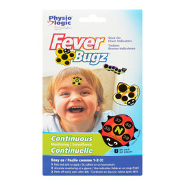 Physio Logic Fever Bugz Timbres Thermo Indicateurs Surveillance Continuelle 8 Par Paquet