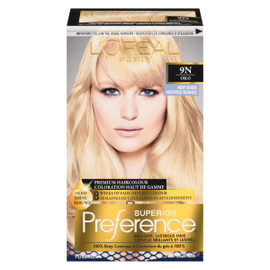 L'Oréal Paris Superior Preference Coloration Haut de Gamme Permanent 9N Oslo Blond Clair Naturel