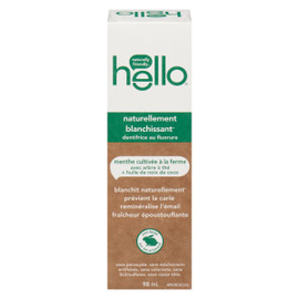 Hello Dentifrice au Fluorure Naturellement Blanchissant 98 ml