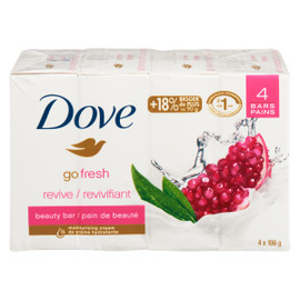 Dove Go Fresh Pain de Beauté Revivifiant 4 Pains x 106 g