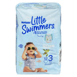 Huggies Little Swimmers 12 Maillots de Bain Jetables P 7-12 kg