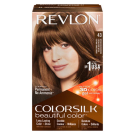 Revlon ColorSilk Beautiful Color 3D Color Gel Technology Permanent + No Ammonia 43 Châtain Doré Moyen
