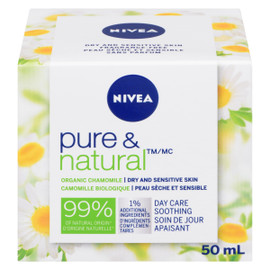 NIVEA Pure & Natural Soin de Jour Apaisant 50 ml
