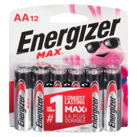 Energizer Max Piles Alcalines AA12