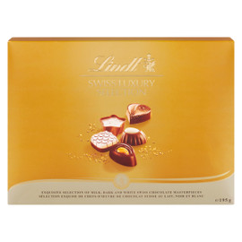 Lindt Swiss Luxury Selection Sélection Exquise de Chocolat Suisse au Lait, Noir et Blanc 195 g