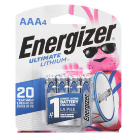 Energizer Ultimate Lithium Piles Lithium AAA4