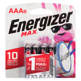 Energizer Max Piles Alcalines AAA8