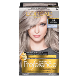 L'Oréal Paris Superior Preference Coloration Haut de Gamme Permanent 8S Stockholm Blond Moyen Argenté