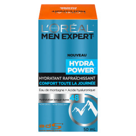 L'Oréal Paris Men Expert Hydra Power Hydratant Eau de Montagne + Acide Hyaluronique 50 ml