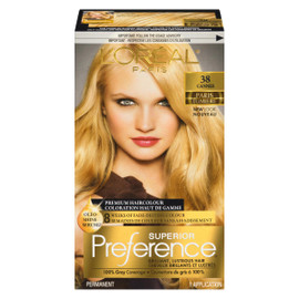 L'Oréal Paris Superior Preference Coloration Haut de Gamme Permanent 38 Cannes Blond Clair Doré