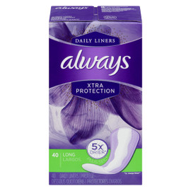 Always Dailies Xtra Protection 40 Protège-Dessous Long