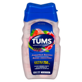 Tums Antiacide Baies Assorties Extra Fort 750 mg 100 Unités