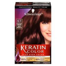 Keratin Color Coloration Permanente 5.7 Brun Noisette