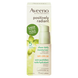Aveeno Active Naturals Positively Radiant Soin Quotidien Voile Hydratant Lotion FPS 30 73 ml