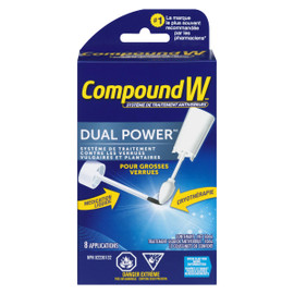 Compound W Dual Power Système de Traitement Antiverrues 8 Applications