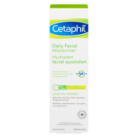 Cetaphil Lotion Hydratant Facial Quotidien Sensible 50 FPS 50 ml