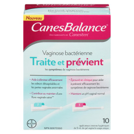 CanesBalance Vaginose Bactérienne 10 Applicateurs Internes Hygiéniques de Gel Vaginal à Usage Unique x 5 ml