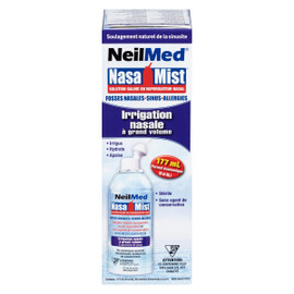 NeilMed Nasa Mist Solution Saline en Vaporisateur Nasal Irrigation Nasale à Grand Volume 177 ml