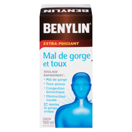 Benylin Mal de Gorge et Toux Sirop Extra-Puissant 100 ml