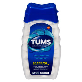 Tums Antiacide Menthe Extra Fort 750 mg 100 Unités