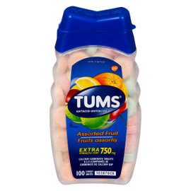 Tums Antiacide Fruits Assortis Extra Fort 750 mg 100 Unités