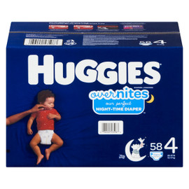 Huggies Overnites Couches 4 10-17 kg 58 Couches