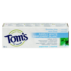 Tom's of Maine Simplement Blanc Dentifrice Menthol 85 ml