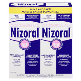 Nizoral Shampooing Antipelliculaire 2 Bouteilles x 120 ml Chacune (240 ml)
