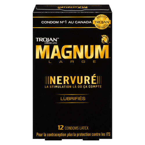 Trojan Magnum Condoms Latex Large Nervuré 12 Condoms Latex