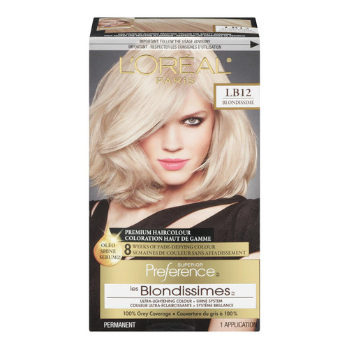 L'Oréal Paris Superior Preference Les Blondissimes Coloration Haut de Gamme Permanent LB12 Blondissime Blond Soleil Ultra Clair