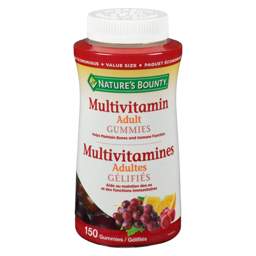 Nature's Bounty Multivitamines Gélifiés Adultes Paquet Économique 150 Gélifiés