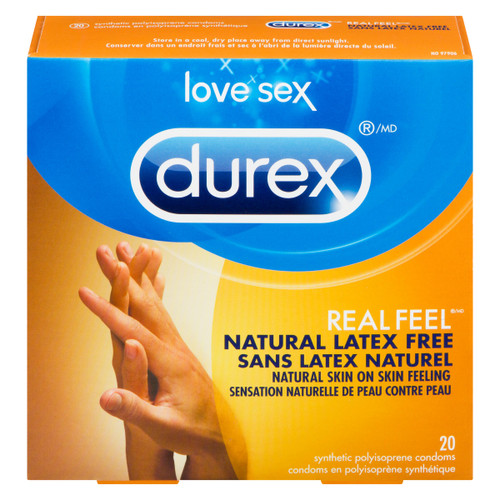 Durex Love Sex Real Feel 20 Condoms en Polyisoprène Synthétique