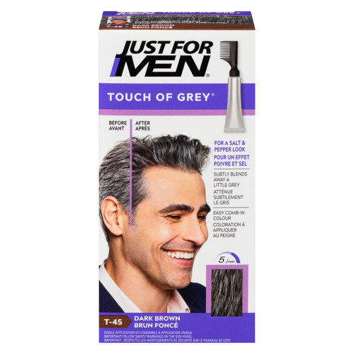 Just for Men Touch of Grey Ensemble à Application Unique Brun Foncé T-45 35 g