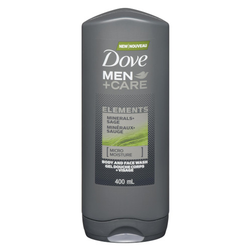 Dove Men+Care Elements Gel Douche Corps+Visage Minéraux+Sauge 400 ml