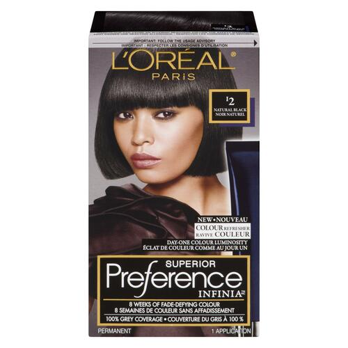 L'Oréal Paris Superior Preference Infinia Ravive Couleur Permanent I2 Noir Naturel