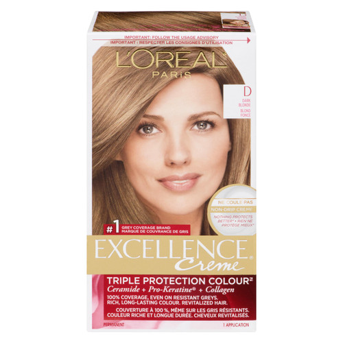 L'Oréal Paris Excellence Creme Triple Protection Colour Permanent D Blond Foncé