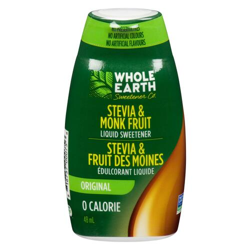 Whole Earth Sweetener Co. Édulcorant Liquide Stevia & Fruit des Moines Original 48 ml