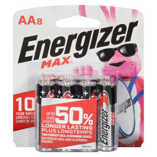 Energizer Max + Powerseal Piles Alcalines AA8