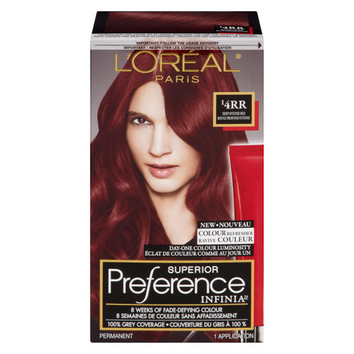 L'Oréal Paris Superior Preference Infinia Ravive Couleur Permanent I4RR Rouge Profond Intense