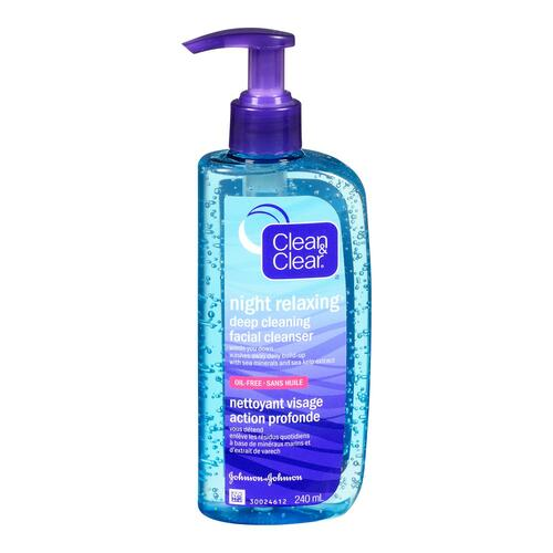 Clean & Clear Night Relaxing Nettoyant Visage Action Profonde 240 ml