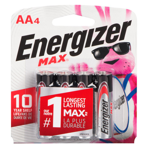 Energizer Max Piles Alcalines AA4