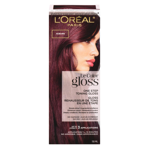 L'Oréal Paris Le Color Gloss Rehausseur de Tons en Une Étape Auburn 118 ml