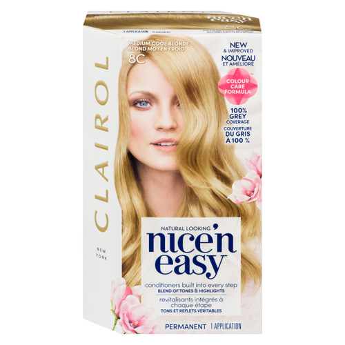 Clairol Nice'n Easy Permanent 8C Blond Moyen Froid