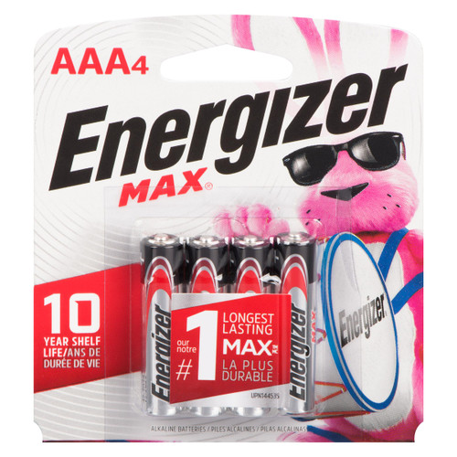 Energizer Max Piles Alcalines AAA4