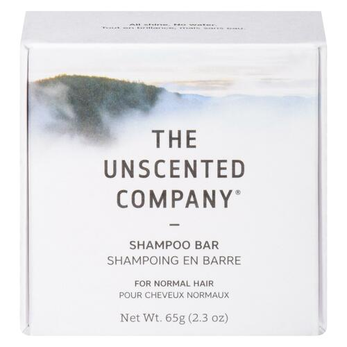 The Unscented Company Shampoing en Barre pour Cheveux Normaux 65 g