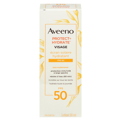 Aveeno Protect + Hydrate Écran Solaire Hydratant Lotion Visage FPS 50 59 ml
